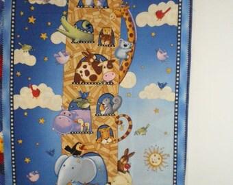 quilting Panel child Noah's Ark