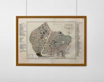Mapa de Barcelona. 1840. Old Map from Barcelona