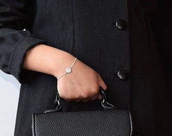 Sterling Silver 925 Bracelet,Silver Women Bracelet,Women Bracelet Silver,Chain Delicate Bracelet,Women's Bracelet,CZ Dainty Silver Bracelet