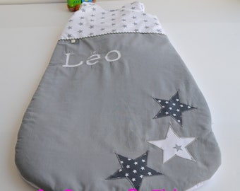 Sleeping bag 6 - 24 months handmade star grey baby @lacouturebytitia Mode