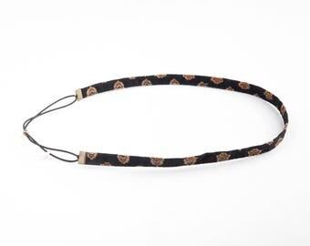 The headband EYRAGUAIS black & brown elastic
