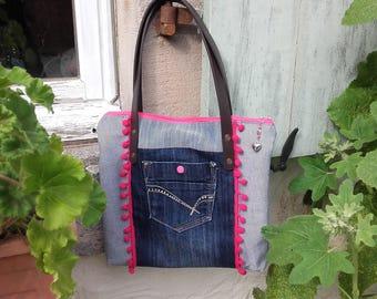 Denim girly bag