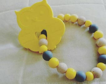 Teether beads silicone and OWL