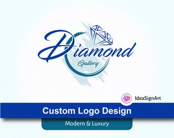 CUSTOM LOGO DESIGN, Luxury Logo Design, Modern Logos, Diamond, Diamond Logo Design, Jewelry Logos, photography Logos, Gallery Logo, Logo tag