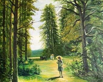 Oil Painting - Lost in the woods