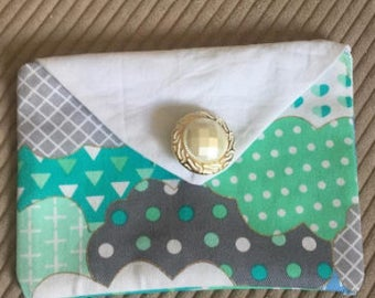 small button up pouch
