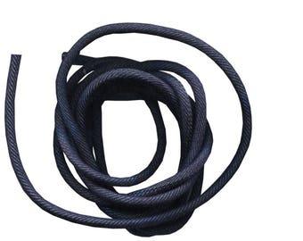20 cm cordon 4mm tissu jean foncé