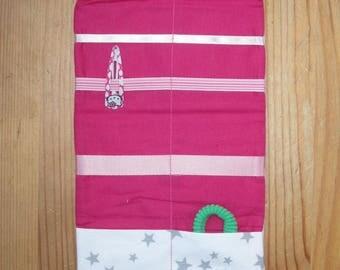Fabric - stars and Fuchsia - customizable Barrettes case or pouch