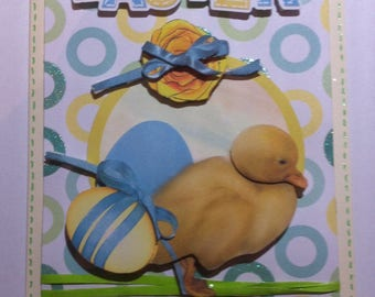 Card 3D Easter Duckling and egg