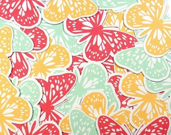 Embellishments - Die cuts butterflies orange and blue - 48 x 36 mm - 24 pcs - Toga - new