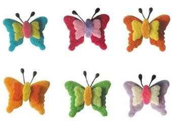 Set of 6 small Butterfly felt at the top color and quality!