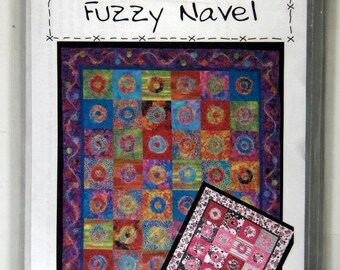 "Quilting Pattern - ""Fuzzy Navel"" (TWO Sizes: 54"" x 64"" and 74"" x 94"")"