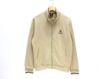 Le Coq Sportif 90s Small Logo Spellout Embroidery Zipper Jacket