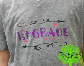 Girls' Back to School Tee, Personalized with Mascot