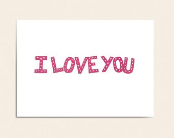 I Love You Card - I Love You