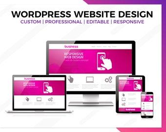 Wordpress Website Design, Business Website Design, Website Design, Professional Website, Custom Website, Functional , Responsive Website