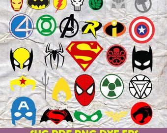 Superhero svg, batman svg, spiderman svg, capitan america svg, Superhero, Avengers svg, logos superheroes svg, avengers icon svg, Dxf, Png