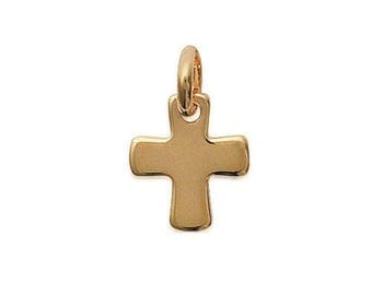 Pendant cross 14 x 16 mm engraved personalize gold-plated