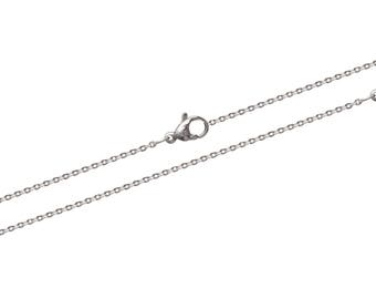Steel thickness 1.12 mm length 45 or 50 cm trace chain