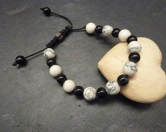 Shamballa black and white marbled