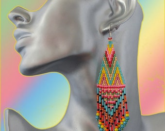 collection spring summer earrings ethnic Bohemian tiissees nine beads