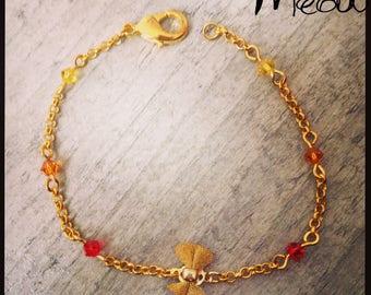 """Feminine bracelet """"Lil Bow gold"""