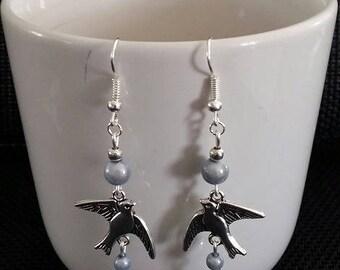 """Earrings """"Dove"""" of 6cm"""