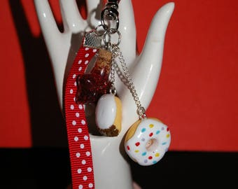 Jewelry bag, key fob in FIMO part5