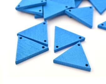 4 connectors pendants 20 mm x 17 mm wooden triangles