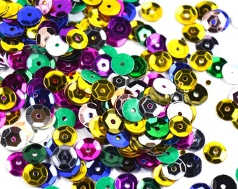 1000 pcs sequins 6mm Assorted Colors Sequins Round Sequins Sequins Multi-colors, Loose Paillettes, Sequin Clothes apparel, Shoe Decor