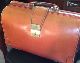 Vintage Leather Briefcase Attache Case