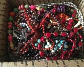 Z 13, Mixed vintage to now beaded necklaces, wearable, resellable