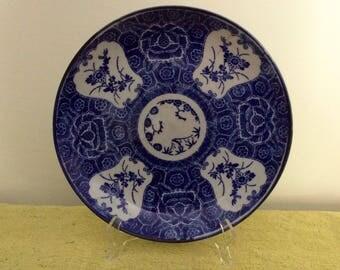 Antique Bleu De Hue Platter