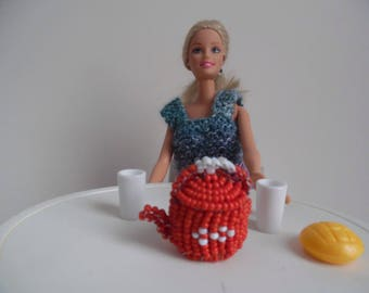 Accessory kitchen kettle for doll