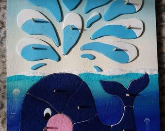 Blue whale Floralie puzzle.