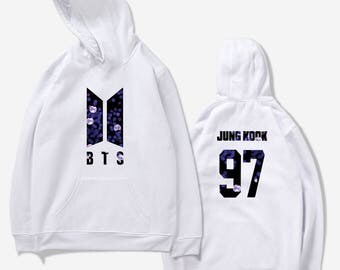 White BTS Army Bomb Hoodie Kpop - all members available