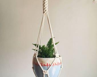 Cotton minimalist plant hanger