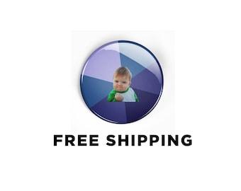 Success Kid Pinback Button - Meme Badge Pin Funny