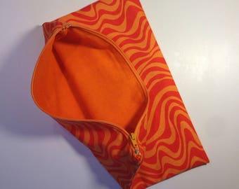 This cosmetic bag - orange Zebra case