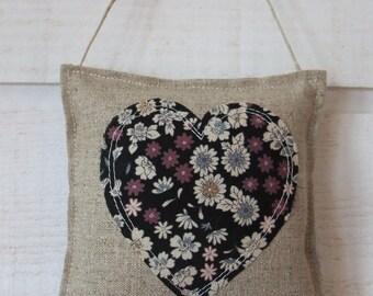 Heart Liberty (No.17) & door linen cushion