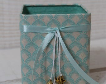 Pencil holder (No. 168) Blue celadon