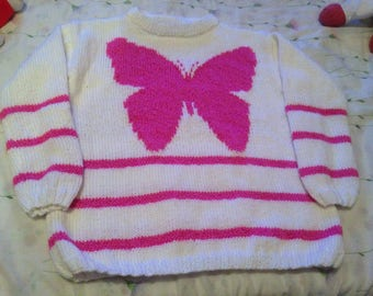 Girl with butterfly 12 sweater