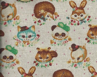 Cotton Fabric with animals - 55x50 cm