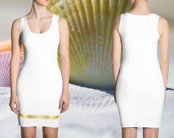 Goldierra Dress - Gold Floyd