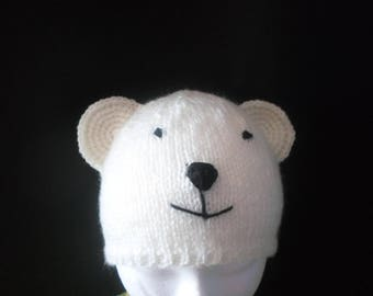 Polar bears 18/24 months acrylic Hat