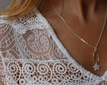 Silver 925/1000 and mother of Pearl Necklace