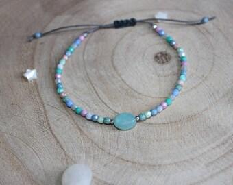 Facets of Bohemia and amazonite gemstone bracelet