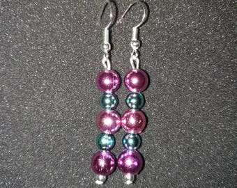 100. Dangling Earrings With Silver Findings