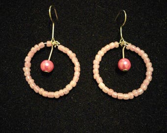 178. Round Dangling Earrings With Pearl