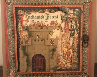 Children's Scrapbook, Enchanted Forest, 20 Themed Pages, 12x12